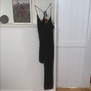 Black half long/short dress